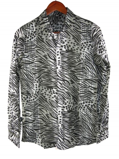 Shirt Fashion Zebra Black...