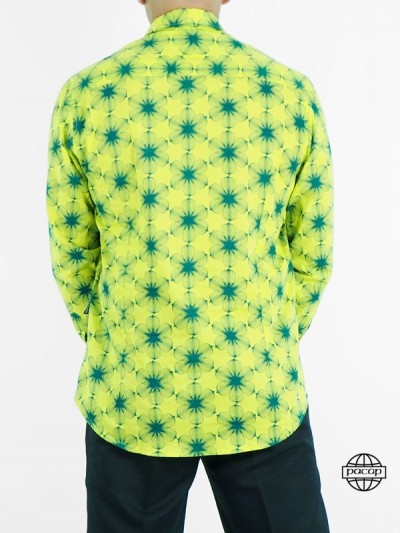 Shirt Retro Geometric Green...