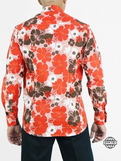 Chemise Rouge Hawaienne -...