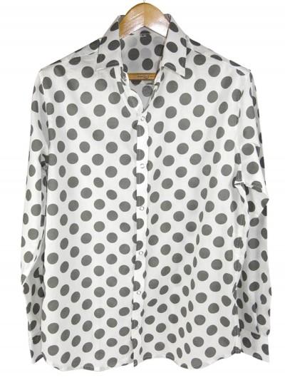 Man Shirt Big Dots Gray -...