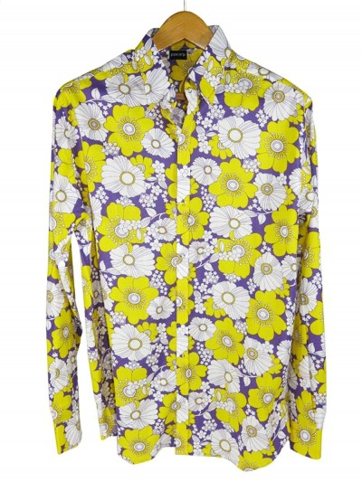Shirt Man Flowers Yellow...