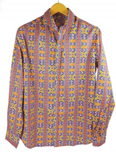 Cotton Shirt Collar Azteca...