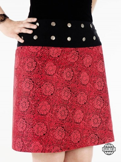 Red Reversible Skirt Droite...