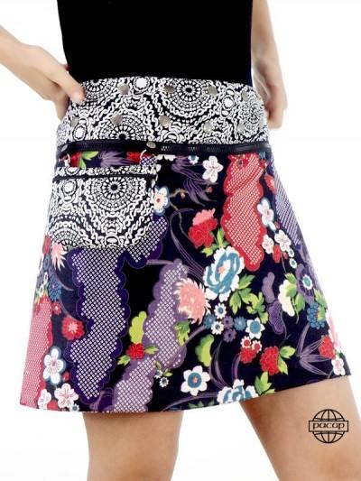 Reversible Falda y bolsa de...