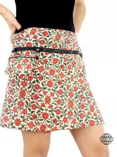 Summer Skirt Reversible Zip...