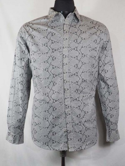 Shirt Retro Snake Skin Gray...
