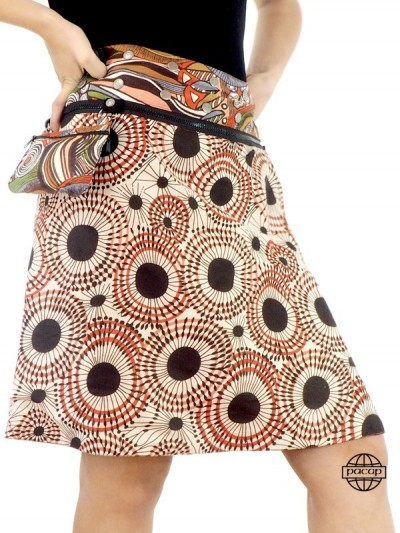 Skirt Women Zipper Cotton...