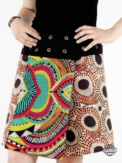 Printed Flared Skirt Ethnic...