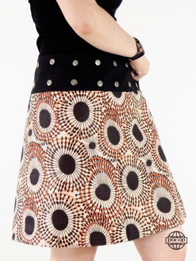jupe marron femme imprimé en coton