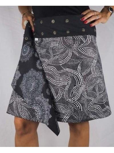 Adjustable Skirt Black &...