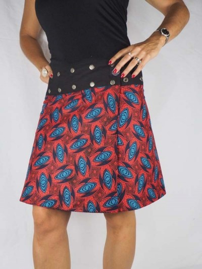 jupe rouge ethnique psychedelique