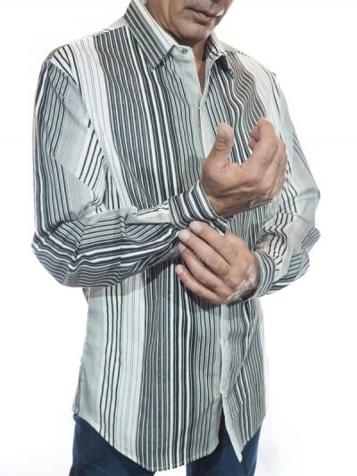 Man Shirt Vertical Stripes...