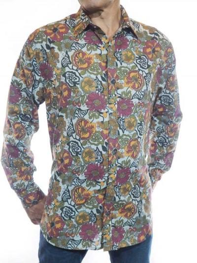 Shirt Vintage Floral Casual...