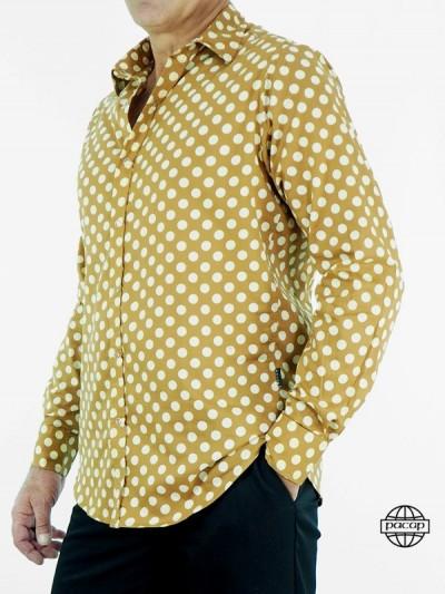 Männlich Hemd Beige Peas -...