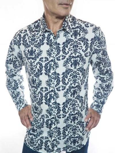 Man Shirt Flowers Classic -...