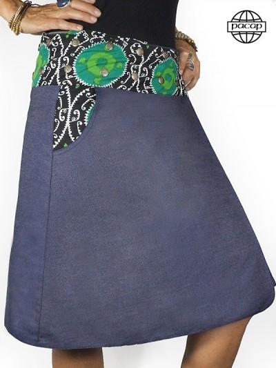 Asymmetric Skirt Jeans...