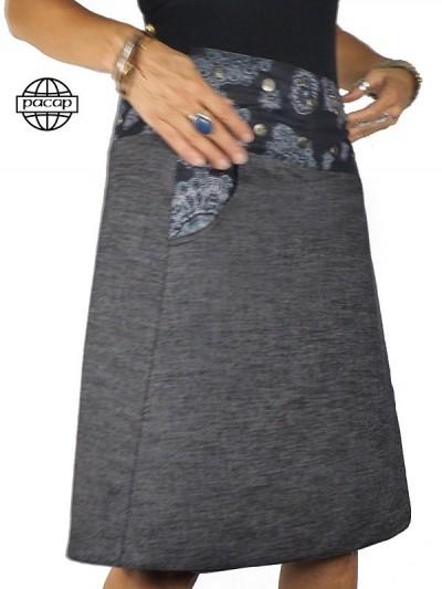 """Reversible denim skirt """"3..."""