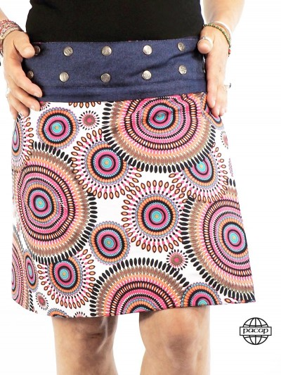 Skirt Reversible Blue and...