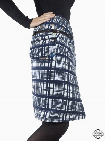 "Skirt ""Long"" with blue and..."