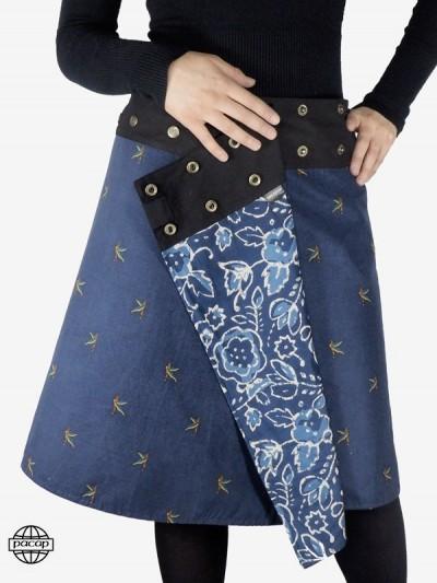 """Skirt """"Maxi"""" Velvet Printed..."""