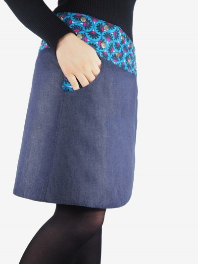 Skirt Skate Blue in Jean...