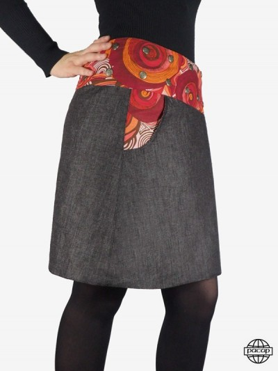 """3 Lengths"" skirt with..."