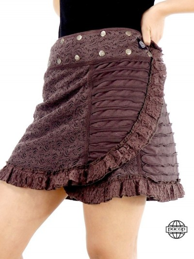 Brown Skirt Tulle Style...