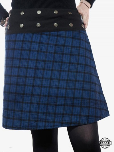 """Skirt """"Midi"""" Velvet Blue..."""
