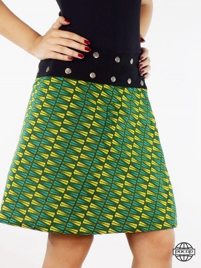 Skirt Green Black Belt -...