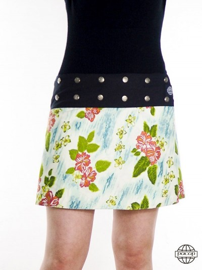 Skirt Green and White...