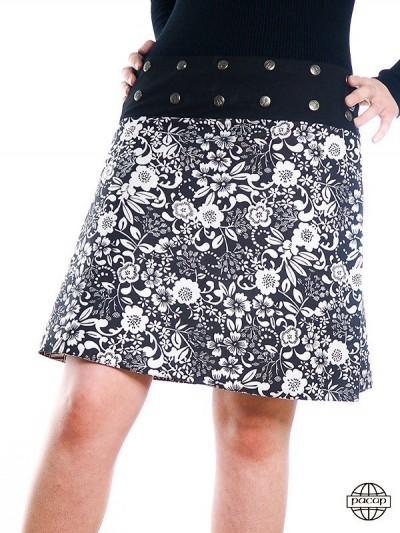 "Skirt ""Mid-Long"" Printed..."