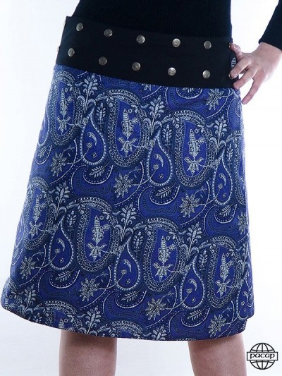 Buttoned Skirt and Belted...