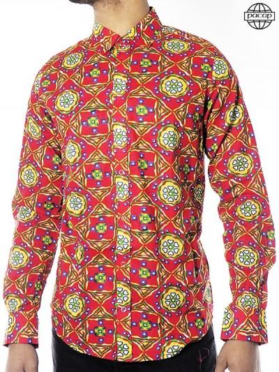 Chemise Arabesque Rouge à...