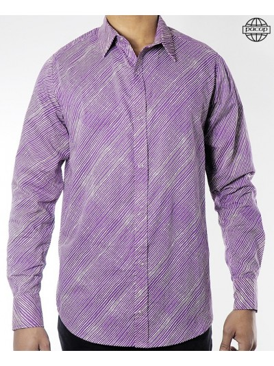 Striped Shirt Purple Man -...