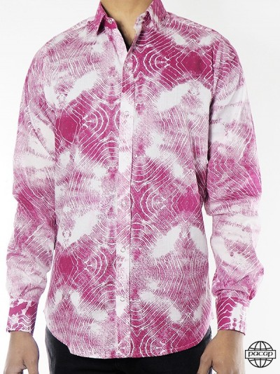 Chemise Homme Wax Violet...