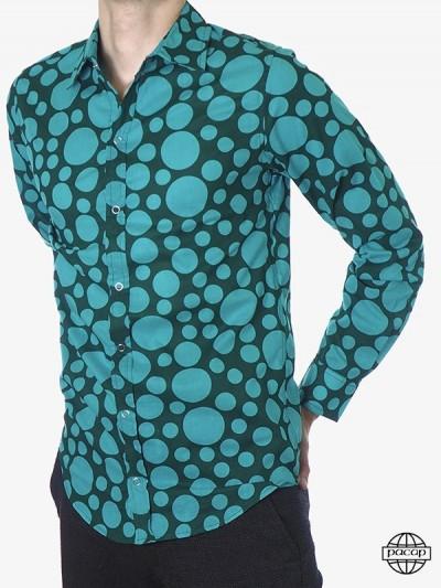 Man Hemd Aqua-blaue...