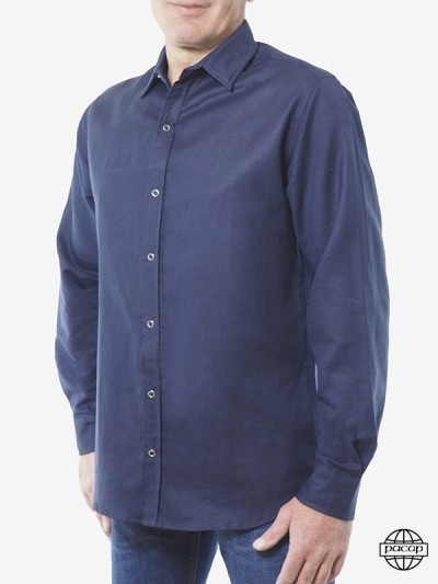 Shirt Blue Classic Curved...