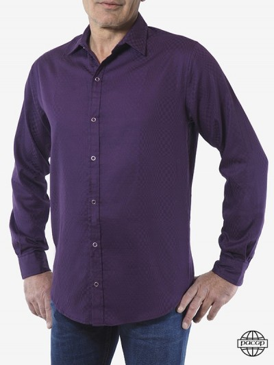 Baumwoll-Shirt Violet...