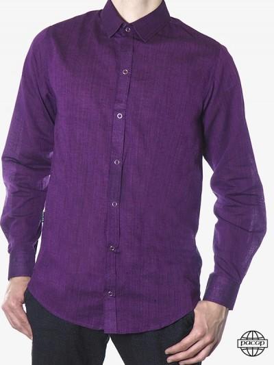 Man Shirt Cotton Violet...