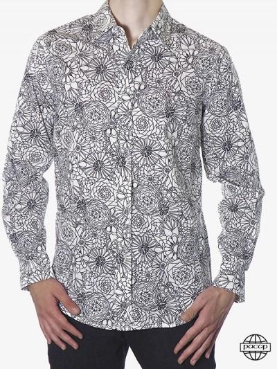 Shirt Vintage Flowers Black...