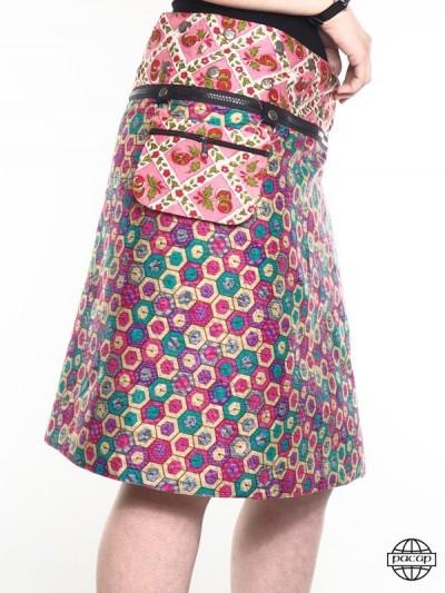 Zip Skirt 100% Cotton...