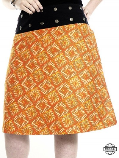 Split Skirt Orange buttons...