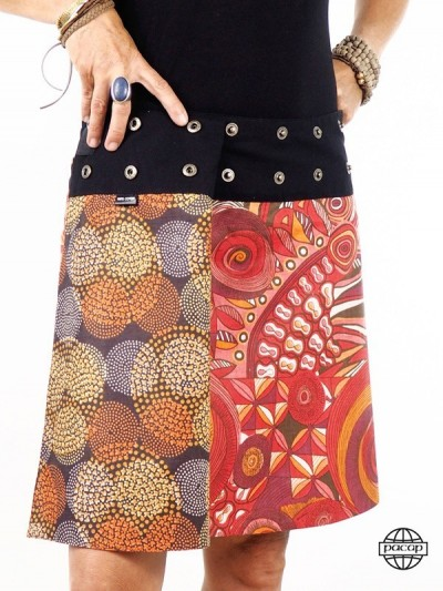 Skirt Colorful Cotton...