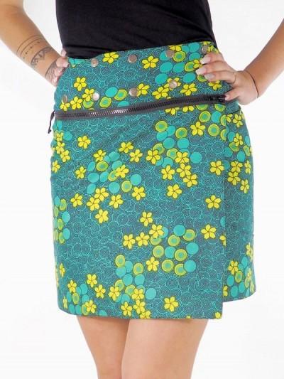 Zip Skirt Summer Skater...