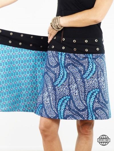 Skater Skirt Blue Satin - 3...