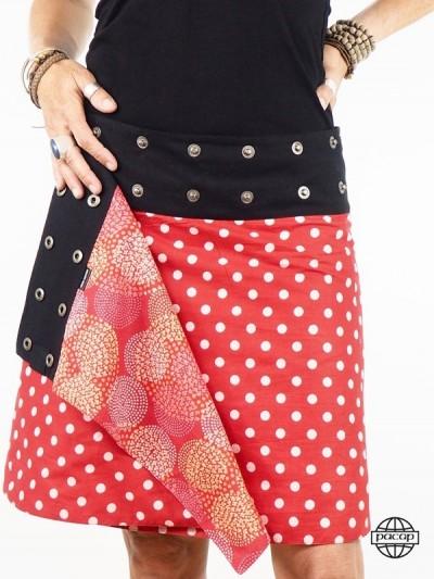 Red Skirt Asymmetrical -...