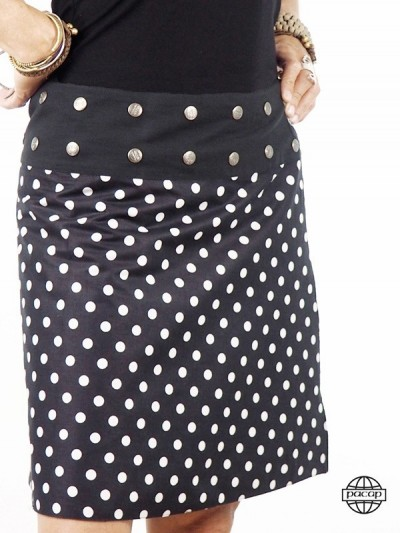 Printed Skirt With Belt...
