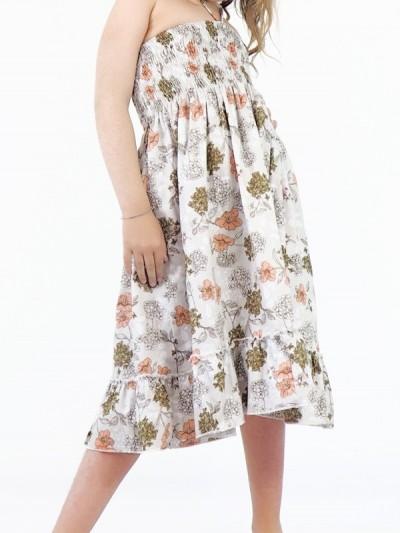 Flowers Printed Dress Girl...