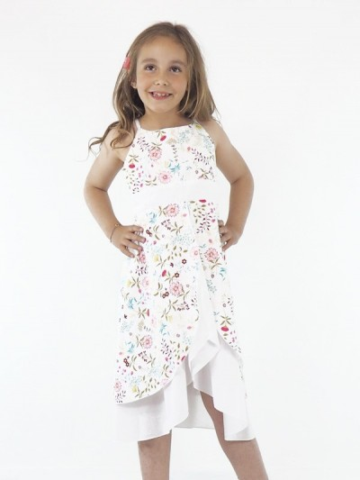 Robe Blanche Fille Dos nu...
