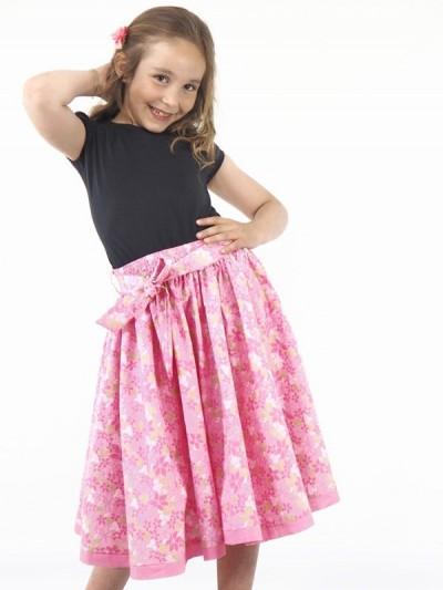 Long Skirt with Belt Girl...